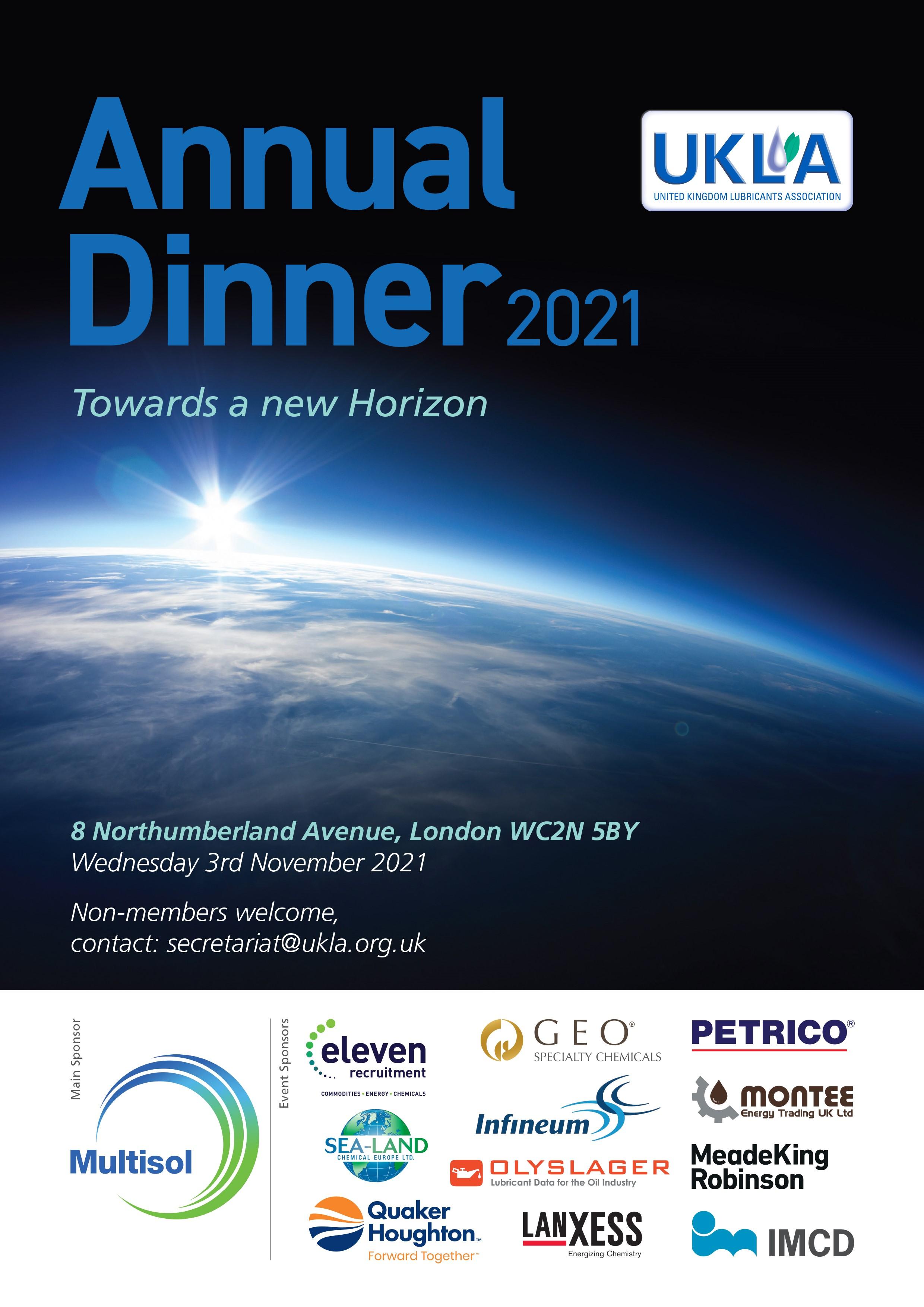 Annual Dinner Ad April 2021